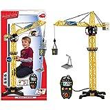 Dickie Spielzeug 203462411 - Giant Crane, Kabel-Fernsteuerung, links, rechts, auf, ab, 100 cm, gelb/schwarz