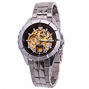 Goer LB274 Men's Cool Style Skeleton Full-automatic Mechanical Wrist Watch