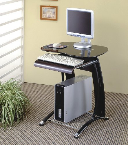 Buy Low Price Comfortable Casual Design Black Home Office Computer Workstation Desk (B001HFB6X2)