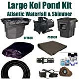 Patriot Brand 20 x 25 Large Koi Pond Kit 5,200 GPH Pump Featuring Atlantic 9