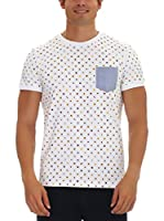 GALVANNI Camiseta Manga Corta Web (Blanco)