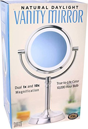 Sunter Lighted Vanity Mirror Reviews : Sunter Natural Daylight Vanity Makeup Mirror, NEW 2016 Model Quality Beauty Supplies