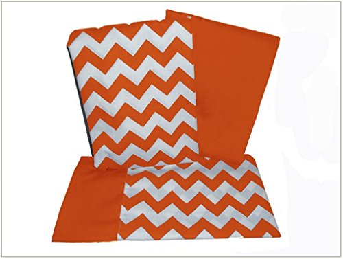 Baby Doll Chevron Crib and Toddler Sheet Set, Orange