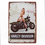 Harley Davidson the Military with Sexy Girl 1, Metal Tin Sign, Wall Decorative Sign By 66retro
