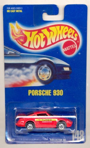 Mattel Hot Wheels Porsche 930 148 Blue Card 1991 - 1