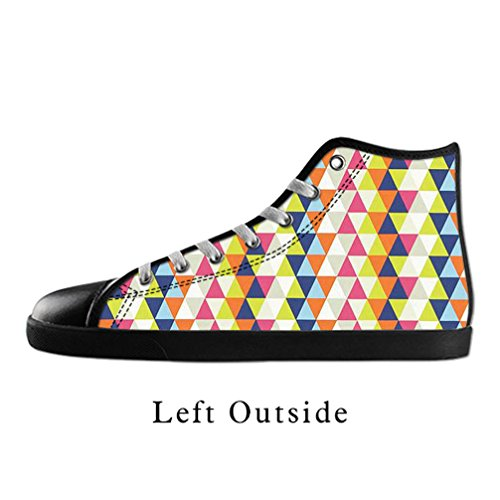 [JIUDUIDODO Women's Casual Fashion Kandinsky Artwork Canvas Lace Up High top Shoes Sneakers US8] (Wine Bottle Costumes Halloween)