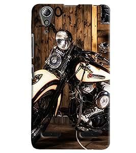 Clarks Harley Davidson Hard Plastic Printed Back Cover Case For Lenovo A6000