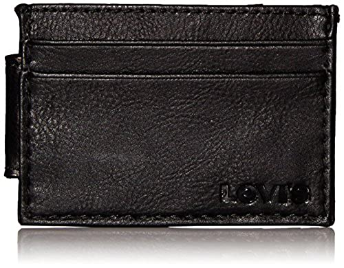 07. Levi's Men's Card Case Wallet with Embossed Logo