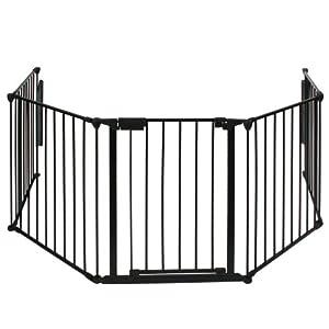Infantastic® - Barrera protectora para chimeneas 300 cm (negro)