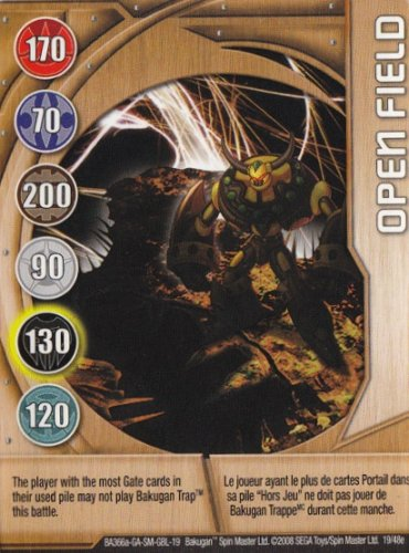 Bakugan Copper Metal Gate Command Card - Open Field