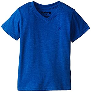 Hurley Little Boys' Icon Premium Classic Surf Style Tee, Hyper Cobalt Heather, 3T