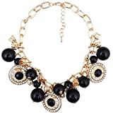 Super Drool Classic Black Gold Necklace