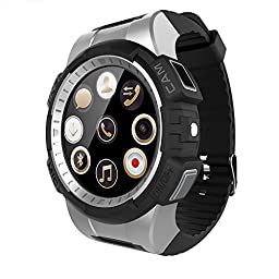 Markrom V11 Sports IOS Android Smart Watch with Bluetooth 4.0 Heart Rate Built-in Camera Support MP3 Music SIM TF Card Silver