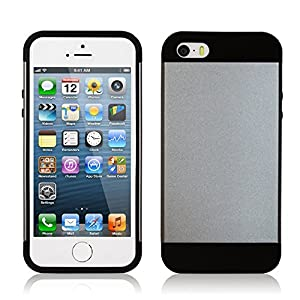 Yozzy Iphone 5 Aluminum Case, Slim Fit Dual Layer Protection Protector Case with Armor Insert for Iphone - Silver/gray