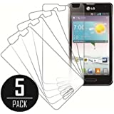 LG Optimus F3 Screen Protector Cover, MPERO Collection 5 Pack of Clear Screen Protectors for LG Optimus F3 LS720