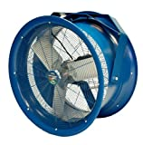 Patterson Fan H22A High Velocity Fan, Yoke Mount, Single-Phase, 3 Blades, 22&quot; Diameter, 115 Volts, 100ft Air Throw Distance