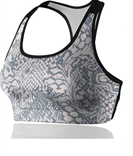 Women'S 18-Hour Original Comfort Strap Bra Grey Zebra Stripes& Flowers For Sports Like Running Zumba Aerobics Pilates