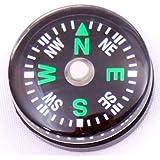 niceEshop Liquid Filled Magnetic Camping Mini Compass(24pcs,20mm)