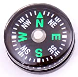 niceEshop Wholesale Lot 24pcs 20mm Small Mini Compasses for Survival Kit