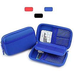 HESPLUS Anti-Shock Portable EVA Hard Drive Carrying Case Bag Pouch for Seagate Backup Plus Slim Expansion 2TB 1TB / Western Digital WD My Passport Ultra 1TB 2TB [2.5 inch Portable External Hard Drive],Excellent Organizer Stor