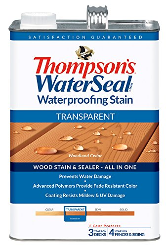 THOMPSONS WATERSEAL 041851-16 Transparent Stain, Cedar (Exterior Wood Sealer compare prices)