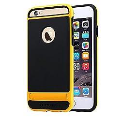 iPhone 6 Case , [Scratch Resistant] TOTU & E-UNIQ [Mingdun Series] bumper Case cover for Apple iPhone 6 4.7 inch(Black Yellow)