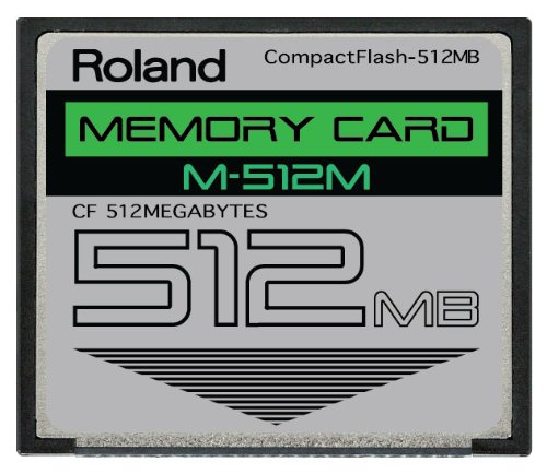 Review 512MB Roland M-512M CompactFlash CF Memory Card Upgrade for SPD-S, SP-404, SP-555, SP-606, MC...