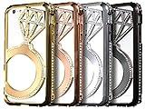 (ジュエリーエンジェル) JEWELRY ANGEL iPhone6/s 4.7インチ ジュエリーストーンバンパーケースカバー(黒色)