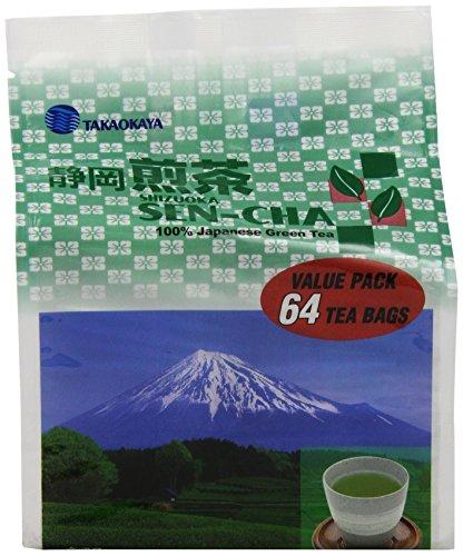 Takaokaya Tea T Green Sencha, Teabags, 64 Count Unit