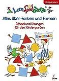 LernSpielZwerge Übungsbuch: Alles über Farben und Formen - Rätsel und