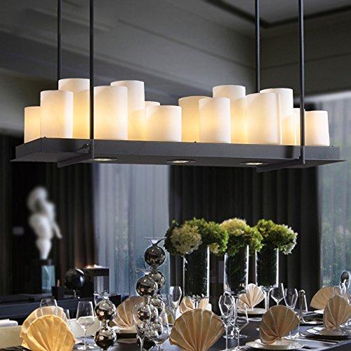 LLHZUO-Candelabro a lume di candela ristorante cucina lampadario moderno minimalista vento nordico portato grandi hotel lampadario lampada da tavolo