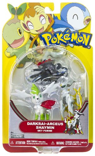 Picture of Jakks Pacific Arceus, Darkrai, Shaymin (Sky Forme): Pokemon Mini-Figure Multi-Pack Series (B004UMJXBG) (Pokemon Action Figures)