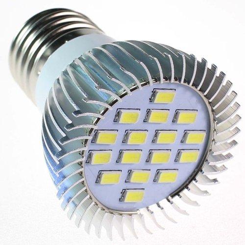 Huoshang E27 6W 560-Lumen 16 Smd 5630 Led High Power Spotlight Bulb Lamp Ac 220-240V Pure White