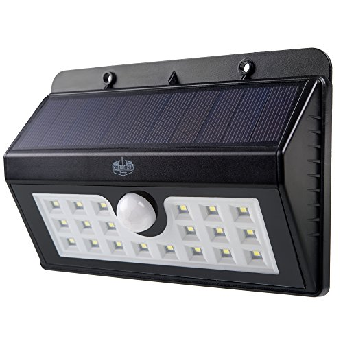 California Basics 20 LED Solar Powered Motion Sensor Wall Flood Light for Outdoors, Weatherproof, Black (Great Lakes 202 compare prices)