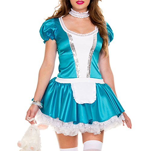 Egelbel Women Sexy French Maid Cosplay Dress