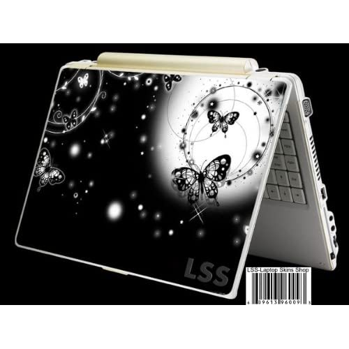 Laptop Skin Shop Laptop Notebook Skin Sticker Cover Art Decal Fits 13.3 14 15.6 16 HP Dell Lenovo Asus Compaq (Free 2 Wrist Pad Included) Butterfly Floral