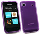 FLASH SUPERSTORE SAMSUNG I9001 GALAXY S PLUS FROSTED PATTERN GEL SKIN COVER/CASE PURPLE