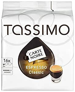 TASSIMO Carte Noire Expresso Classico 16 T DISCs (Pack of 5, Total 80 T DISCs/pods)