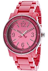 Jacob Time 1900804 Juicy Couture HRH Hot Pink Acrylic Ladies Watch