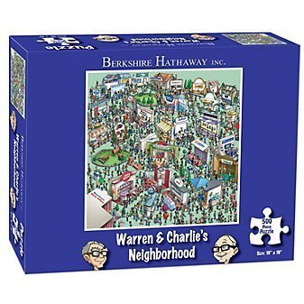 Berkshire Hathaway Warren & Charlie's Neighborhood Puzzle by USAopoly - 1