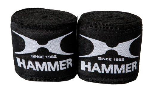 Hammer Boxbandage Elastisch 89112, 3.5 m, schwarz