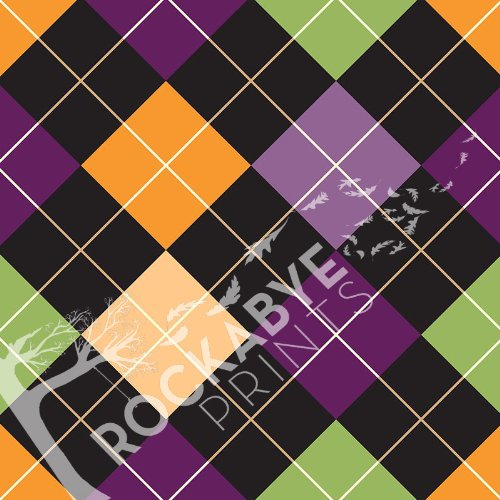 Photography Backdrop / Floordrop - 5Ft X 5Ft Halloween Argyle - Durable Vinyl Backgroud front-357663