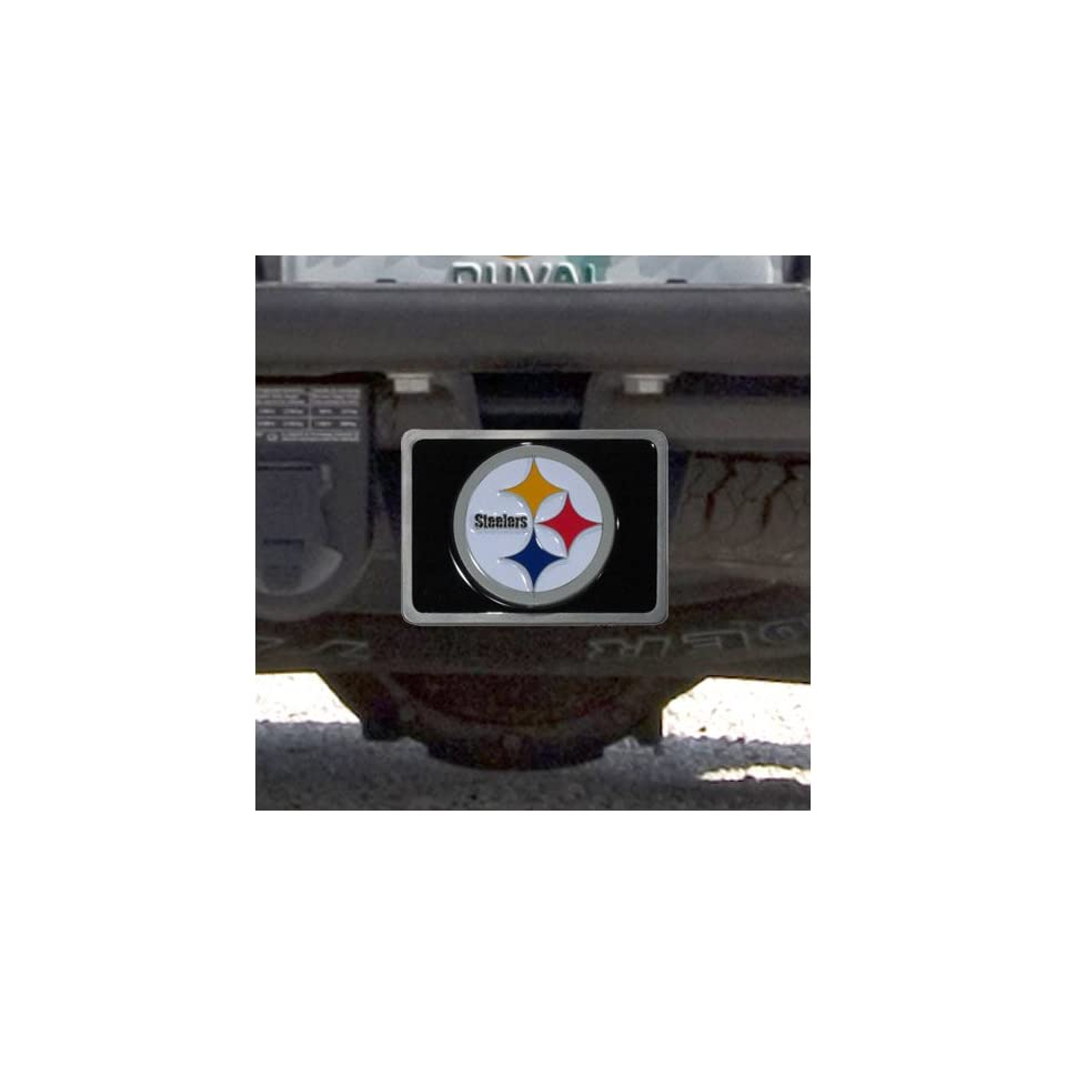 f70978846ad9d8 Pittsburgh Steelers Black W/Team Logo Hitch Cover Sports on PopScreen