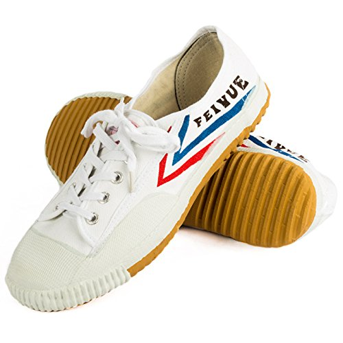 Wu Designs Fei Yue-Feiyue-Arti marziali-Wushu-Sport & Parkour-Minimal scarpe, bianco, 37 EU