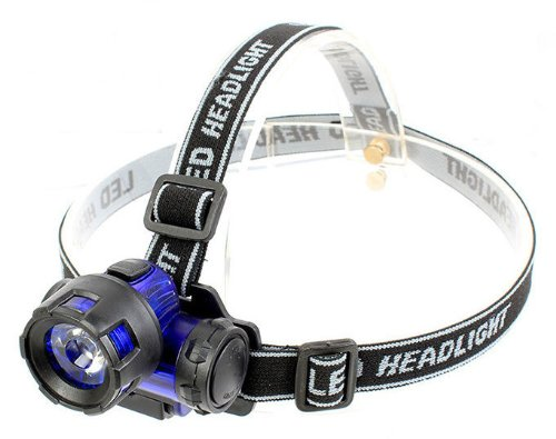 Smakn New Blue Lumen 3W Led Headlamp Fishing Head Light Head Torch Flashlight
