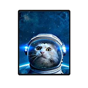 Soft galaxy outer space hipster cat 40 x 50 for Outer space fleece