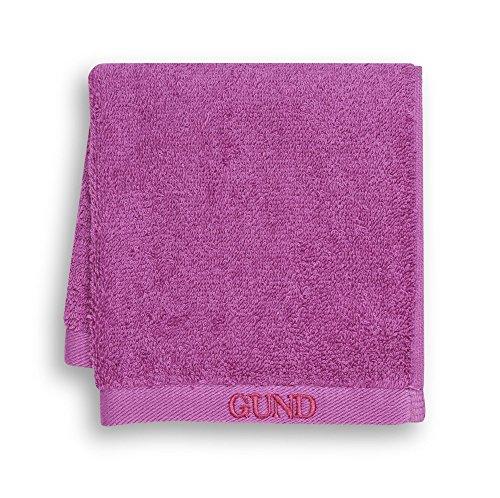GUND Bear Essential Ringspun Face Towel, Raspberry, 12'' By 12'' - 1