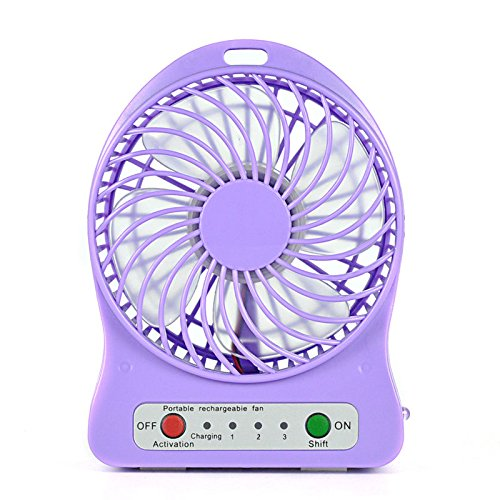 Portable Fans Battery Operated Portable Rechargeable USB Desk Pocket Mini Fan Handheld Travel Blower Air Cooler (1, Purple) (Cordless Portable Car Heater compare prices)