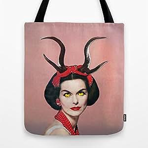 .com: Society6 - Demon Tote Bag by Eugenia Loli: Sports & Outdoors