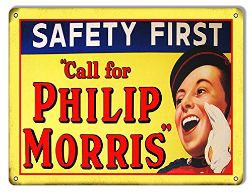 safety-first-philip-morris-cigarette-ad-reproduction-metal-sign-9x12